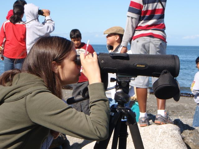 Girl-and-Spotting-Scope